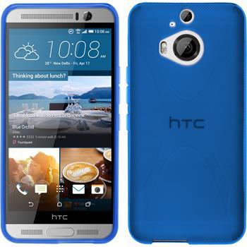 Silikon Hülle One M9 Plus X-Style blau