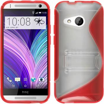 Silicone Case for HTC One Mini 2  red