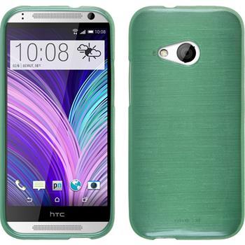 Silikonhülle für HTC One Mini 2 brushed grün