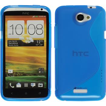 Silicone Case for HTC One X S-Style blue