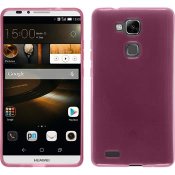 Silikon Hülle Ascend Mate 7 transparent rosa