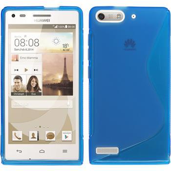 Silikon Hülle Ascend P7 Mini S-Style blau