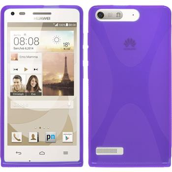 Silikonhülle für Huawei Ascend P7 Mini X-Style lila