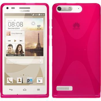Silikon Hülle Ascend P7 Mini X-Style pink