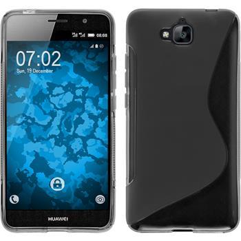 Silikonhülle für Huawei Enjoy 5 S-Style grau
