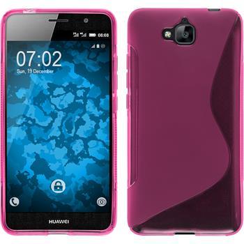Silikonhülle für Huawei Enjoy 5 S-Style pink