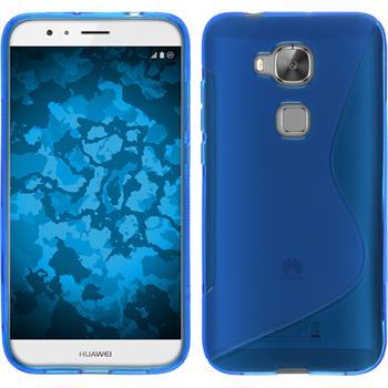 Silikon Hülle G8 S-Style blau + 2 Schutzfolien