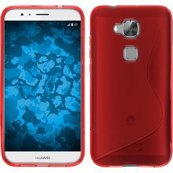 Silikonhülle für Huawei G8 S-Style rot