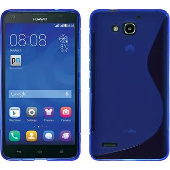 Silikon Hülle Honor 3X G750 S-Style blau