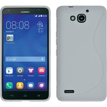 Silikonhülle für Huawei Honor 3X G750 S-Style weiß