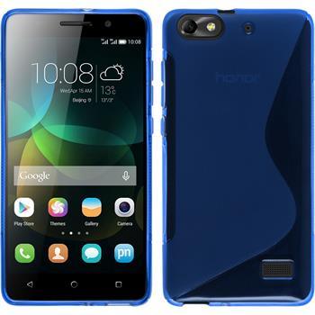Silikon Hülle Honor 4c S-Style blau