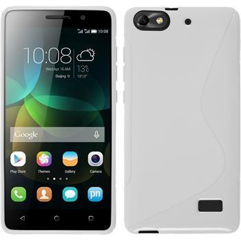 Silikonhülle für Huawei Honor 4c S-Style weiß