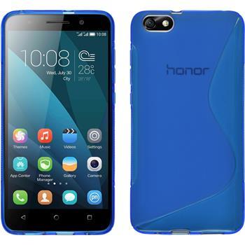 Silikon Hülle Honor 4x S-Style blau