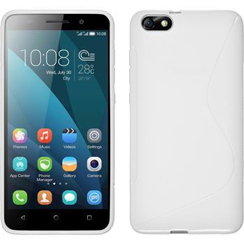 Silikonhülle für Huawei Honor 4x S-Style weiß