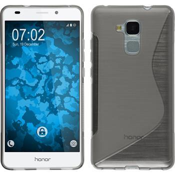 Silikonhülle für Huawei Honor 5C S-Style grau