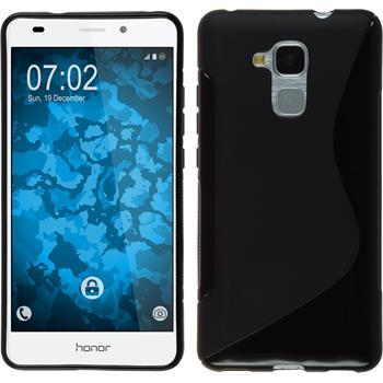 Silikon Hülle Honor 5C S-Style schwarz