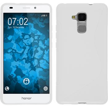 Silikon Hülle Honor 5C S-Style weiß