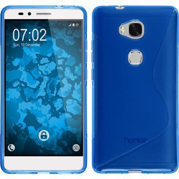 Silikon Hülle Honor 5X S-Style blau