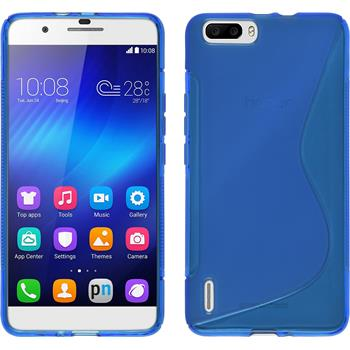 Silikon Hülle Honor 6 Plus S-Style blau