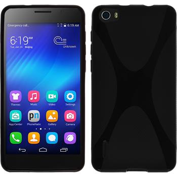 Silicone Case for Huawei Honor 6 X-Style black