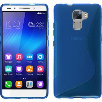 Silikonhülle für Huawei Honor 7 S-Style blau