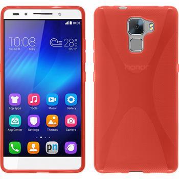 Silikonhülle für Huawei Honor 7 X-Style rot