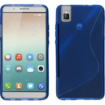 Silikon Hülle Honor 7i S-Style blau
