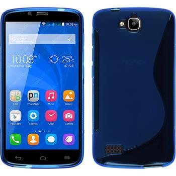 Silikon Hülle Honor Holly S-Style blau + 2 Schutzfolien