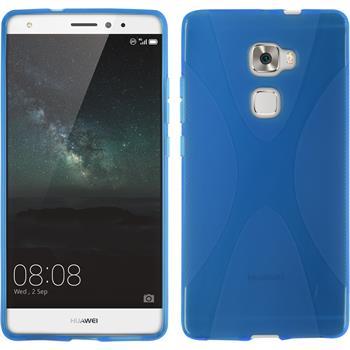 Silikon Hülle Mate S X-Style blau