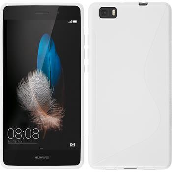 Silikon Hülle P8 Lite S-Style weiß