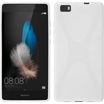 Silikon Hülle P8 Lite X-Style weiß
