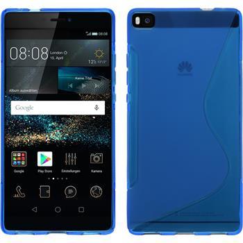 Silikon Hülle P8 S-Style blau