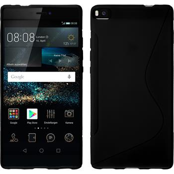 Silikon Hülle P8 S-Style schwarz