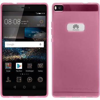 Silikonhülle für Huawei P8 transparent rosa