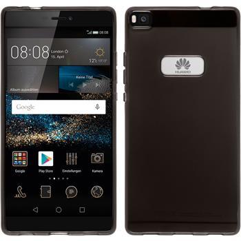 Silikonhülle für Huawei P8 transparent schwarz