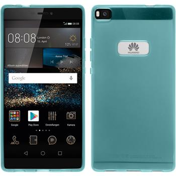Silicone Case for Huawei P8 transparent turquoise