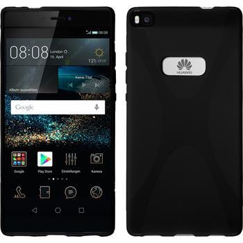 Silikon Hülle P8 X-Style schwarz