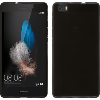 Silikonhülle für Huawei P8 Lite transparent schwarz