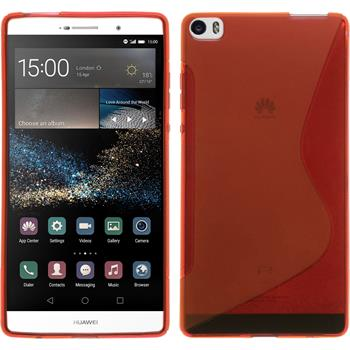 Silikonhülle für Huawei P8max S-Style rot