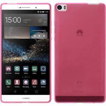 Silikon Hülle P8max transparent rosa