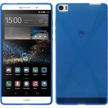Silikon Hülle P8max X-Style blau