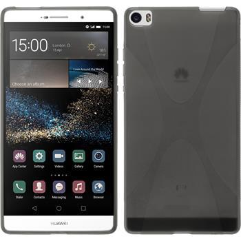 Silikonhülle für Huawei P8max X-Style grau
