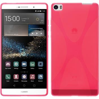 Silikonhülle für Huawei P8max X-Style pink