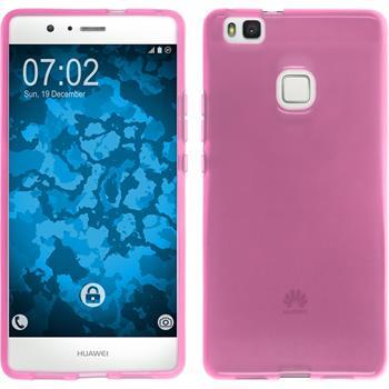 Silikonhülle für Huawei P9 Lite transparent rosa