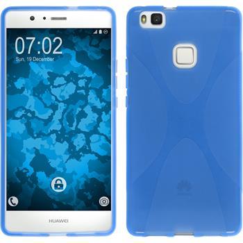 Silikon Hülle P9 Lite X-Style blau