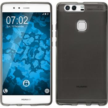 Silikon Hülle P9 Plus transparent grau