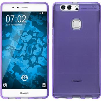 Silikon Hülle P9 Plus transparent lila
