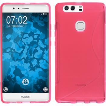 Silikon Hülle P9 Plus S-Style pink