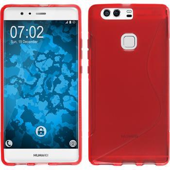 Silikonhülle für Huawei P9 Plus S-Style rot