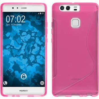Silikonhülle für Huawei P9 S-Style pink